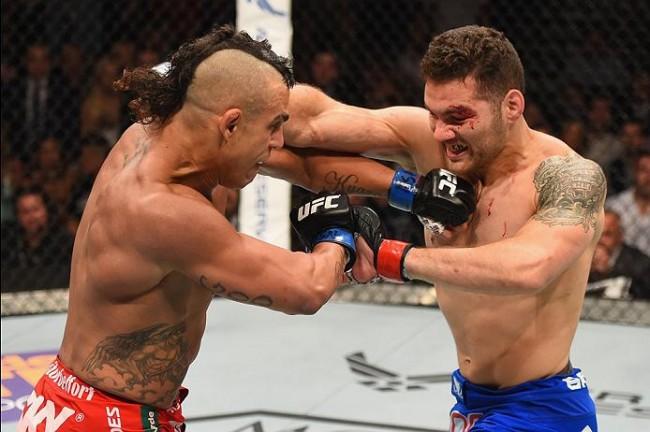 Belfort e Weidman se enfrentaram em maio, com vitória do norte-americano. Foto: Divulgação/UFC