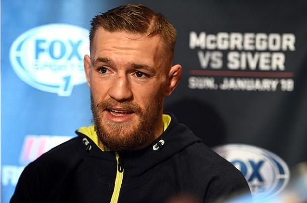 C. McGregor (foto) e seu treinador ironizaram caso envolvendo J. Aldo. Foto: Josh Hedges/UFC