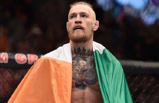 JCVD se rendeu a McGregor (foto). Foto: Josh Hedges/UFC