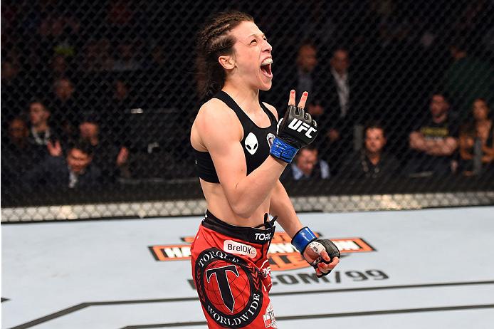 Jedrzejczyk (foto) é a campeã peso palha do UFC. Foto: Divulgação/UFC
