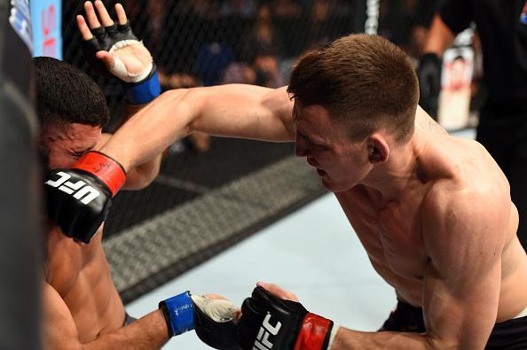 Alpha (esq.) foi nocauteado por inglês. Foto: Divulgação/UFC