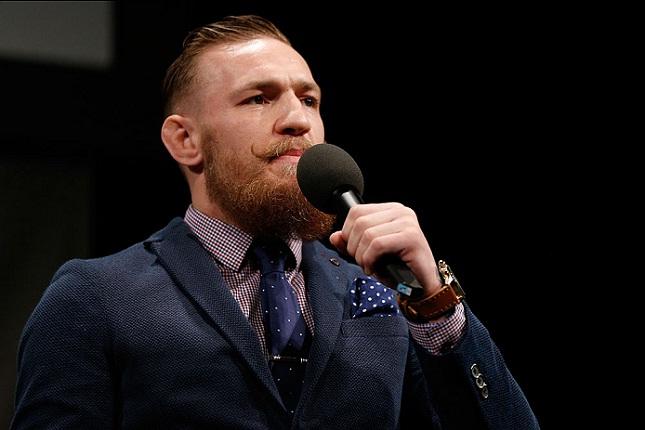 C. McGregor (foto) foi às redes sociais comentar lesão de Aldo. Foto: Josh Hedges/UFC