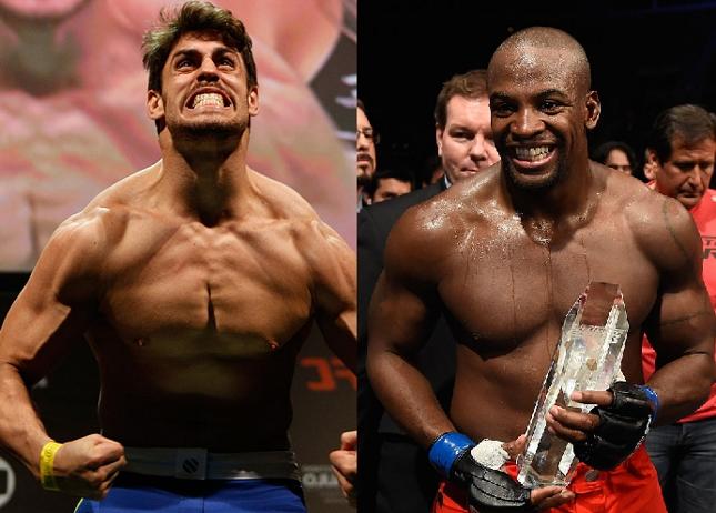 Cara de Sapato (esq.) e E. Gordon (dir.) duelam em junho. Foto: Produção SUPER LUTAS (Josh Hedges/UFC)