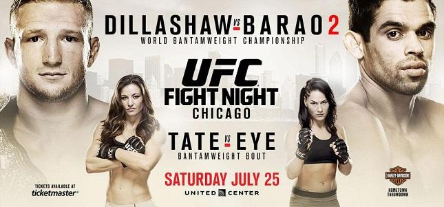 Além de Barão x Dillashaw, evento terá também M. Tate x J. Eye. Foto: Reprodução