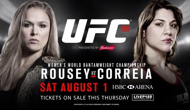 UFC 190 acontece no dia 1º de agosto, na HSBC Arena, no Rio. Foto: Reprodução