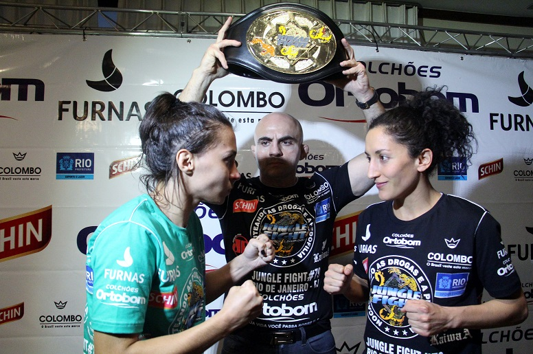 No Jungle Fight 79, Amanda desafiou a mexicana Tania Pereda. Foto: Divulgação