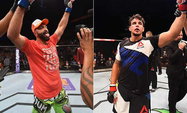 Arlovski (esq) e Mir (dir) podem se enfrentar em setembro. Foto: Produção SUPER LUTAS (Divulgação/UFC)