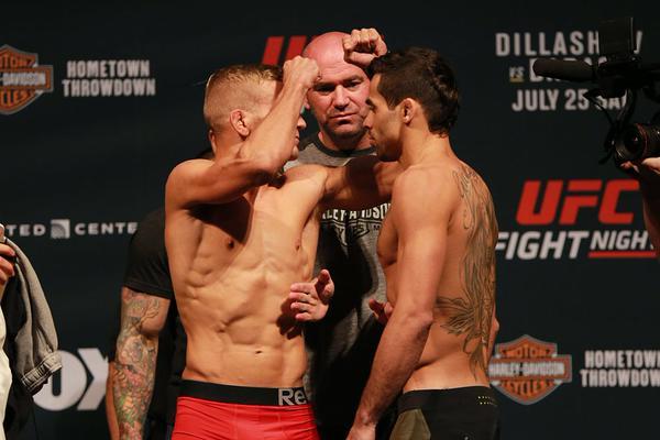 Dillashaw e Barão fazem revanche no UFC on FOX 16. Foto: Divulgação