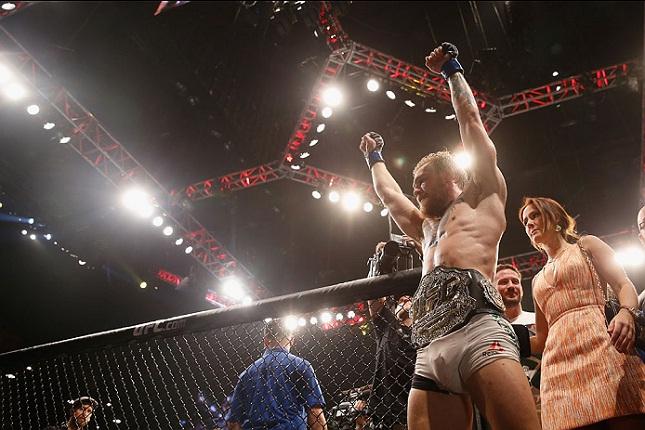 Conor (foto) levou a melhor na luta principal do UFC 189. Foto: Josh Hedges/UFC