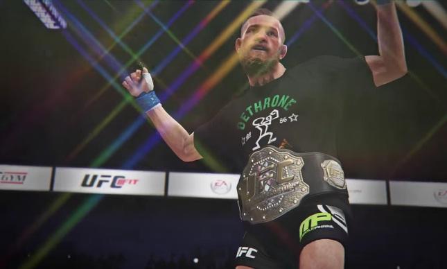 Para EA Sports UFC, Conor sairá com o cinturão no próximo sábado. Foto: Reprodução