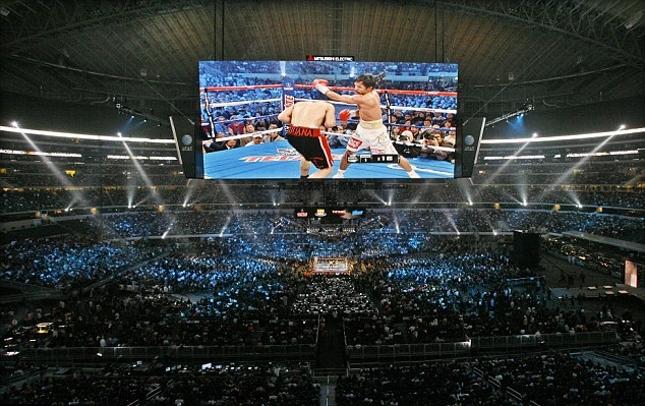 Estádio do Cowboys já foi palco de lutas, mas de boxe. Foto: Divulgação