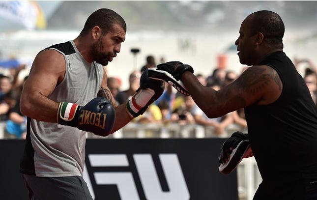 Shogun (esq.) e R. Cordeiro (dir.): pareceria de Chute Boxe está sendo reeditada. Foto: Buda Mendes/UFC