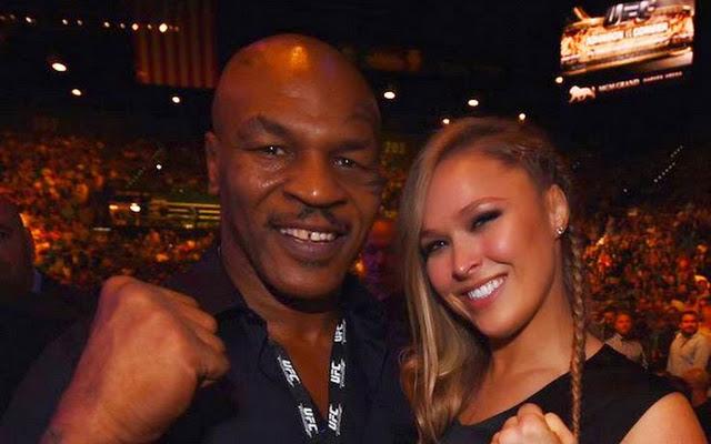 Tyson (esq) fez muitos elogios a Rousey (dir). Foto: Divulgação