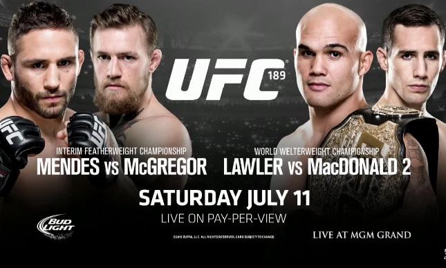 UFC 189 agora será encabeçado por disputa do cinturão interino dos penas. Foto: Reprodução