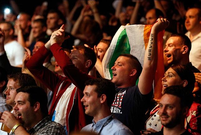 Última edição do UFC na Irlanda aconteceu em julho do ano passado. Foto: Josh Hedges/UFC