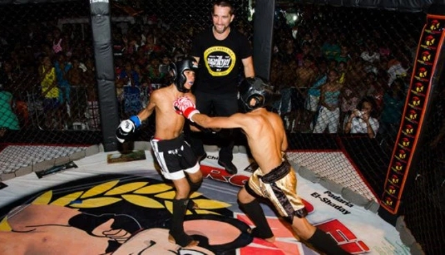 """""""Rato Fight Night 2"""" contou com outras lutas amadoras entre adolescentes, mas todas com regras específicas e equipamentos de segurança. Foto: Bruna Basílio/UPP"""
