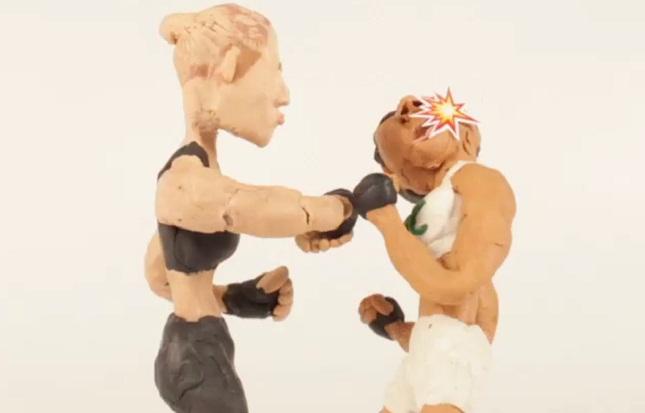 """Ao melhor estilo """"Wallace & Gromit"""", Ronda nocauteia Bethe. Foto: Reprodução"""