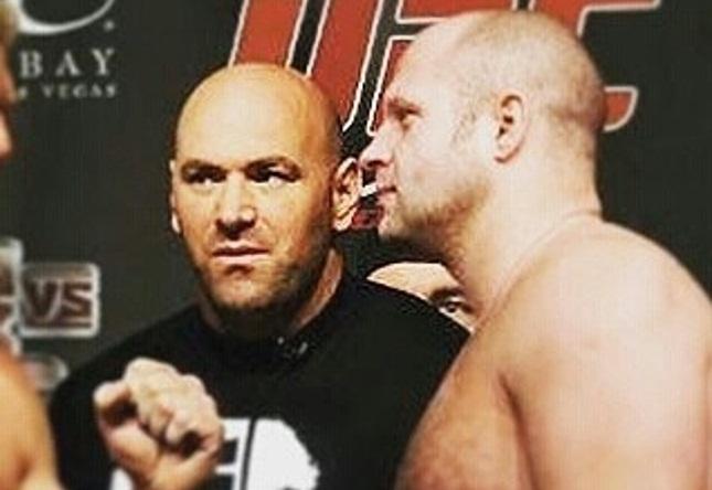 Montagem com Fedor e Dana deu início às especulações sobre o russo no UFC. Foto: Reprodução
