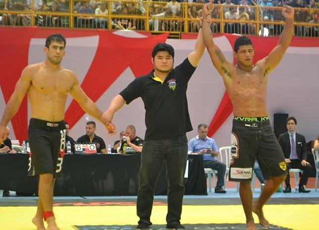 Durinho (dir.) foi o atleta do MMA mais bem colocado no ADCC. Foto: Reprodução/Instagram