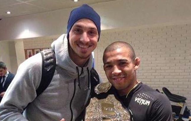Ibrahimovic tieta Aldo em visita do brasileiro a Paris. Foto: Reprodução/Instagram