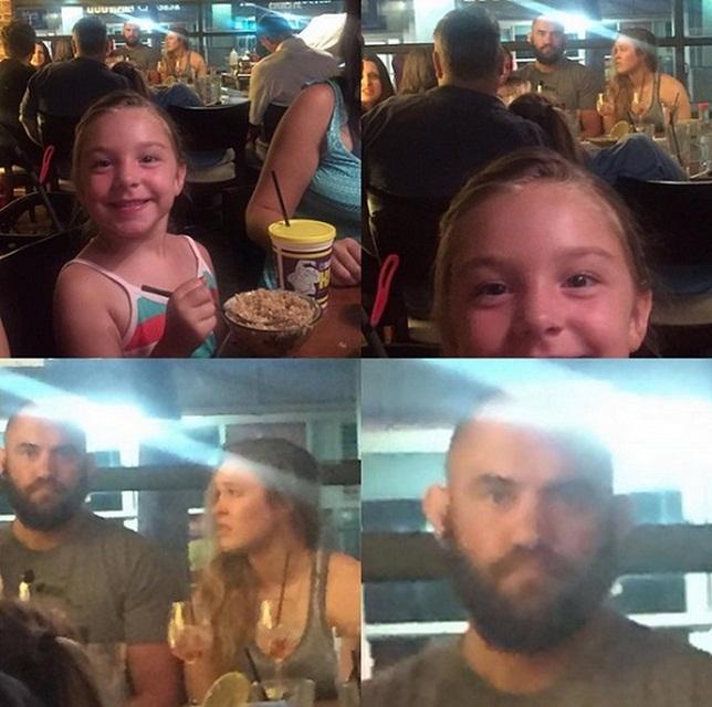 Foto usada como prova do suposto caso entre Ronda e Browne. Foto: Reprodução