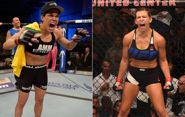 Amanda (esq.) e Miesha (dir.) ocupam, respectivamente, o primeiro e o quarto lutar no ranking do UFC. Foto: Produção SUPER LUTAS (Josh Hedges/UFC)