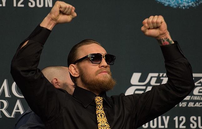 C. McGregor (foto) enfrentará Aldo em dezembro. Foto: Josh Hedges/UFC