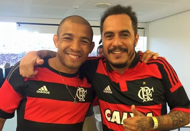 Aldo (esq.) e D2 (dir.), dupla deu sorte para o Flamengo. Foto: Reprodução