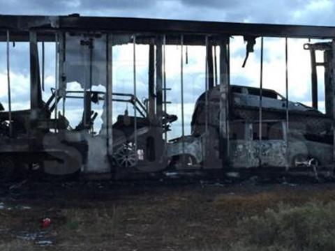Incêndio destruiu carros de Mayweather. Foto: TMZ