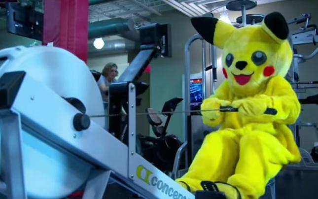Ronda se exercita em um traje pra lá de inusitado. Foto: Reprodução