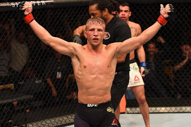 TJ (foto) estava com Faber na Alpha Male desde quando ainda era universitário. Foto: Jeff Bottari/UFC
