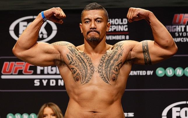 S. Palelei (foto) estava em sua segunda passagem pelo UFC. Foto: Josh Hedges/UFC