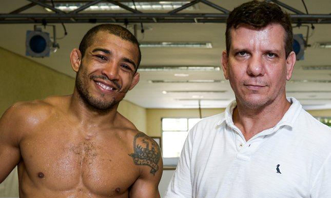Dedé (dir.) garantiu que Aldo (esq.) está 100% para luta contra McGregor. Foto: Divulgação