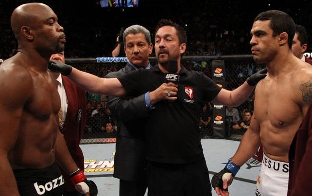 Anderson (esq.) e Vitor (dir.) podem se reencontrar no octógono. Foto: Josh Hedges/UFC
