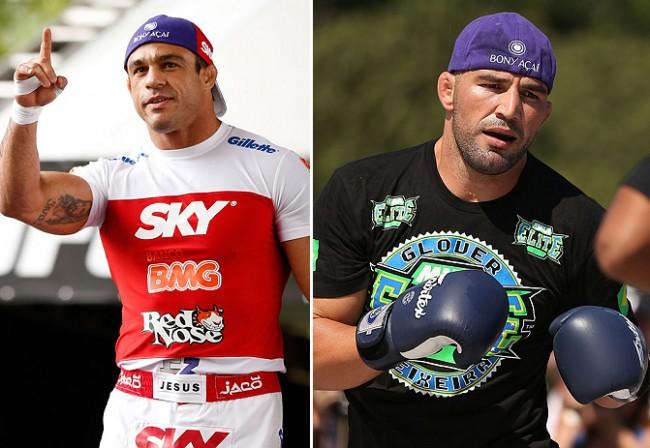 Belfort (esq) e Glover (dir) são as principais estrelas brasileiras do evento. Foto: Produção SUPER LUTAS/Divulgação UFC