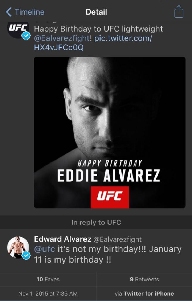 Eddie Alvarez Gafe