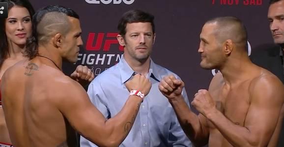 Vitor e Henderson bateram o peso para o UFC SP. Foto: Reprodução