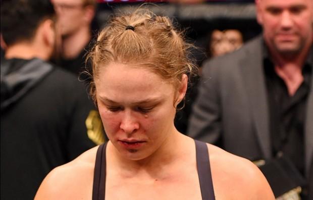 Ronda (foto) sofreu sua primeira derrota como profissional diante de H. Holm. Foto: Josh Hedges/UFC