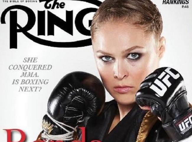Ronda será capa de publicação tradicional de boxe em janeiro. Foto: Divulgação