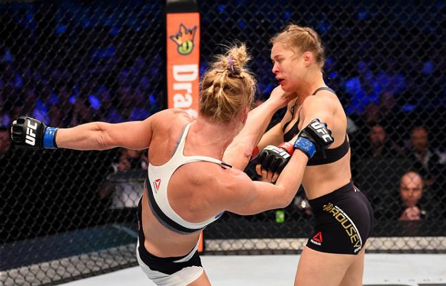 Ronda é nocauteada por Holm no UFC 193 Foto: Divulgação/UFC