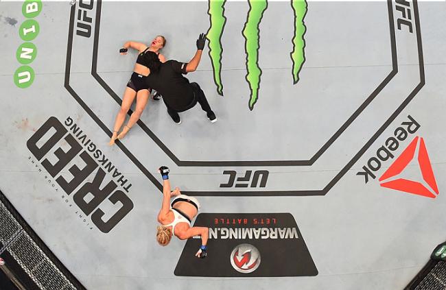 Nocaute de Holm deixou Ronda atordoada. Foto: Divulgação