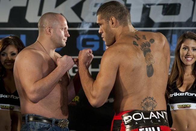 Fedor e Pezão se enfrentaram em 2011. Foto: Divulgação/Strikeforce