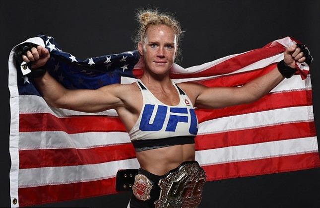 H. Holm (foto) é a nova campeã peso galo do Ultimate. Foto: Josh Hedges/UFC