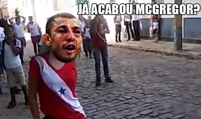 """""""Já acabou, Jéssica?"""" virou """"Já acabou, McGregor?"""". Foto: Reprodução"""