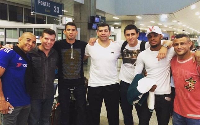 Aldo levou sua equipe completa para Vegas. Foto: Reprodução
