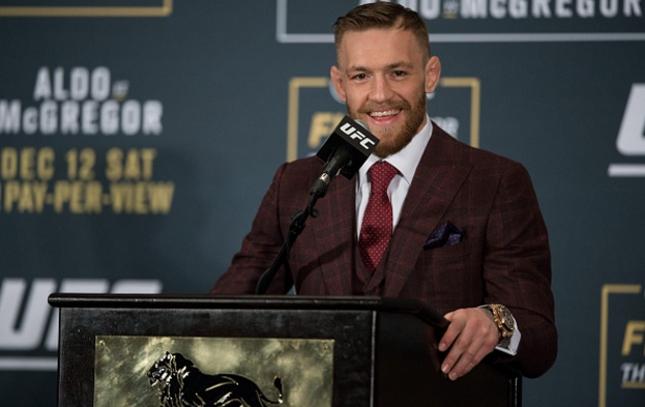 McGregor (foto) é o novo campeão linear dos penas. Foto: Josh Hedges/UFC
