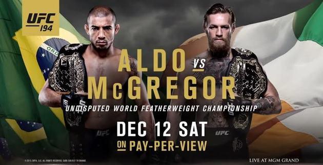 Aldo e McGregor se enfrentam na luta principal do UFC 194. Foto: Divulgação