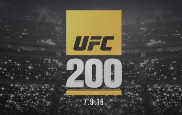UFC 200 acontece no dia 9 de julho de 2016. Foto: Reprodução