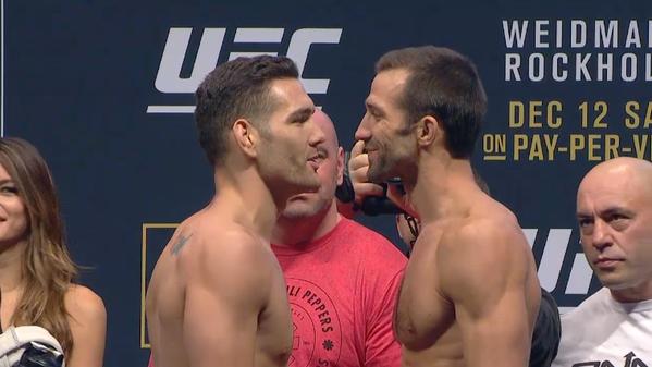 Weidman e Rockhold farão a segunda luta mais importante da noite. Foto: Reprodução