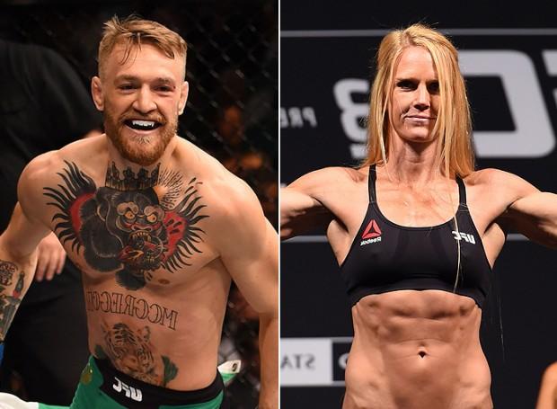 McGregor e Holm foram premiados por revista ESPN. Foto: Produção SUPER LUTAS (Divulgação/UFC)